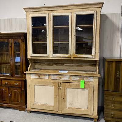 2 Piece Antique Storage Unit