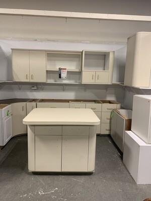 Almond Colored Kitchen Cabinet SEt