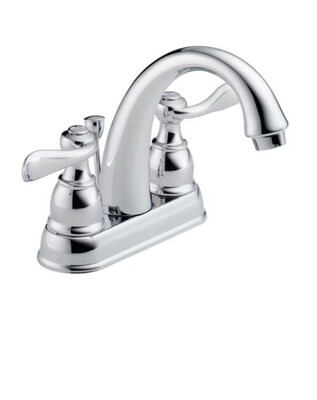 Delta Windemere  Two Handle Centerset Bathroom Faucet In Chrome