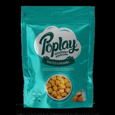 Poplay Salted Caramel Gourmet Popcorn (12 Packs)