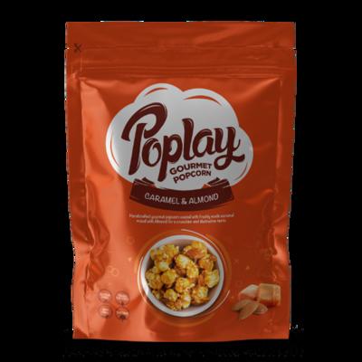 Poplay Caramel Almond Gourmet Popcorn (12 Packs)