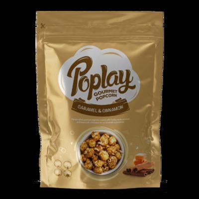 Poplay Caramel Cinnamon Gourmet Popcorn (12 Packs)