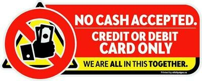 Decals - No cash accepted Graphic