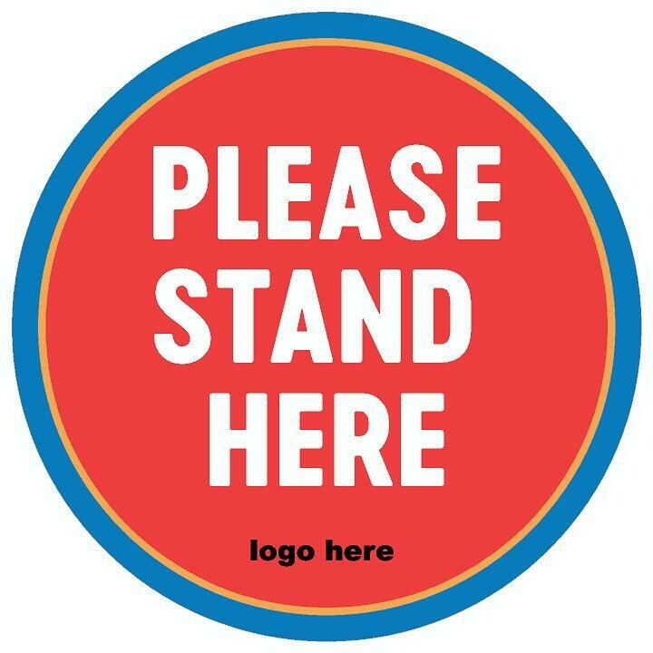 Floor Decals - Please Stand Here - Personalized - SMALL