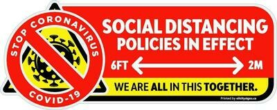 Decals - Social Distancing Graphic