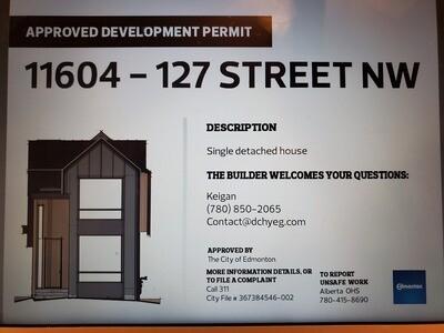 Permit Sign - City of Edmonton