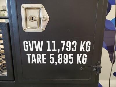 GVW/TARE decals