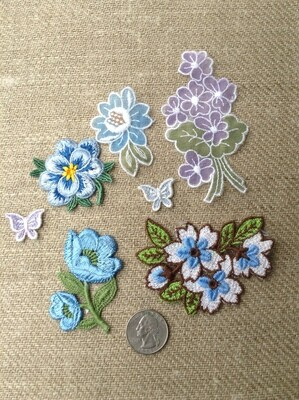Sew-On Patches/Embellishments - Blues
