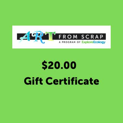 Art From Scrap Gift Certificate