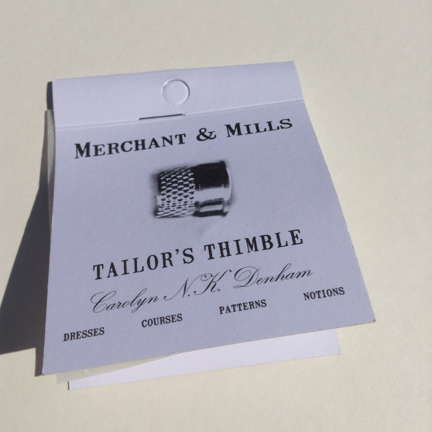 Thimble: Capless Tailor's Thimble from Merchant & Mills