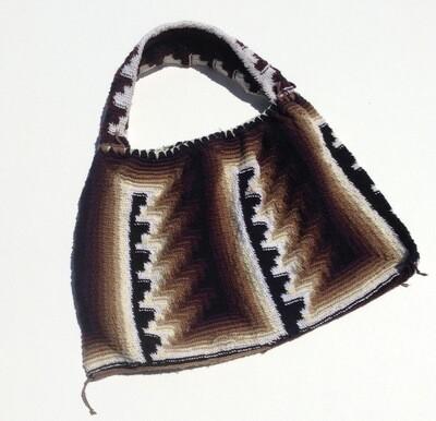 Woven Bag: Black w/ Brown