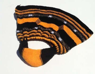 Woven Bag: Black w/ Orange