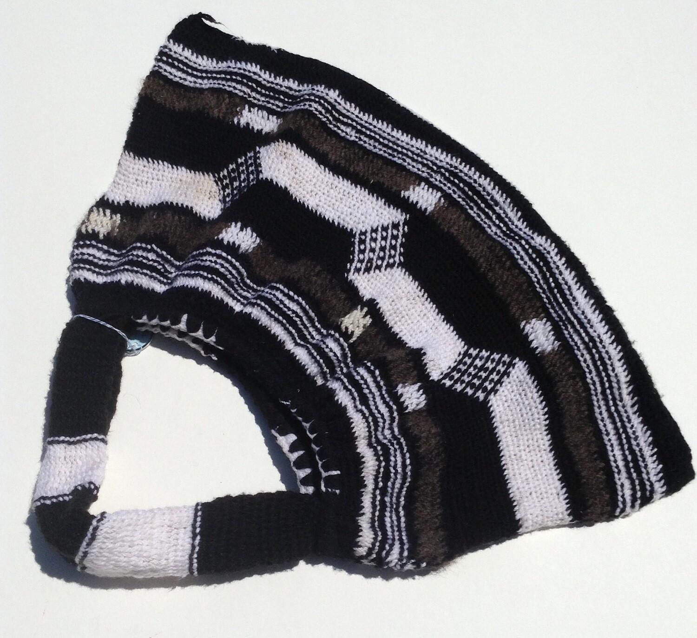 Woven Bag: Black w/ Gray