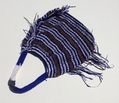 Woven Bag: Fringy Blue