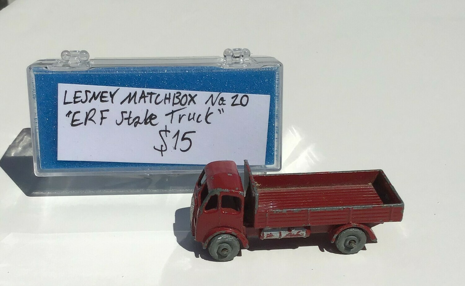 Collectible: Lesney Diecast Matchbook Red Truck