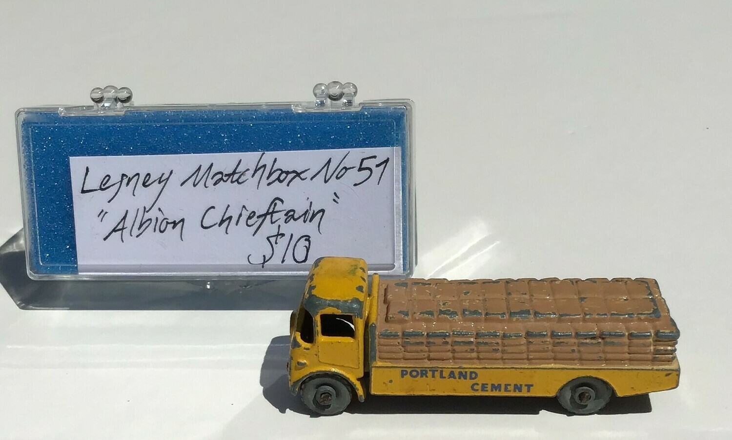 Collectible: Lesney Diecast Matchbook Portland Cement Truck