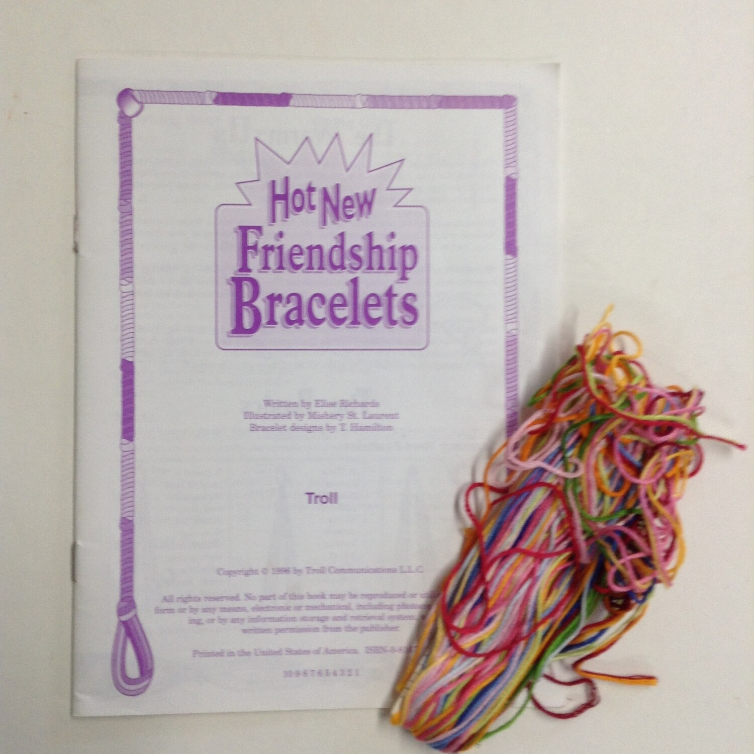 Friendship Bracelet How-To Pamphlet and Floss