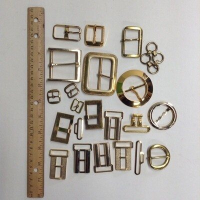 Miscellaneous Metal and Buckles: Lot #4 Gold Tone