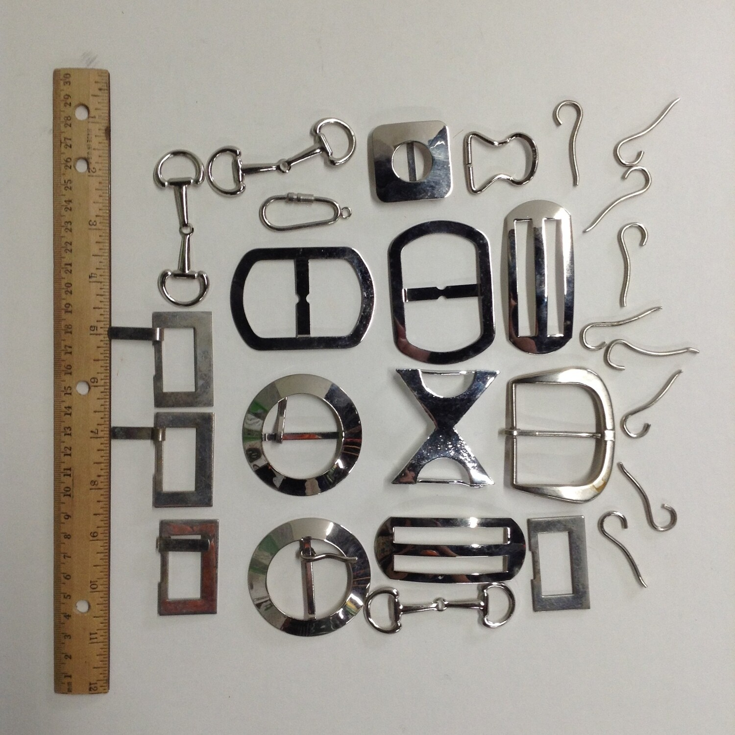 Miscellaneous Metal and Buckles: Lot #3 Silver Tone