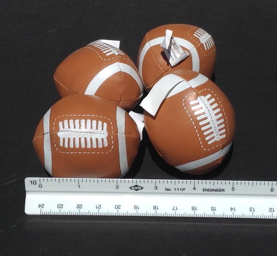 Soft, Mini Footballs (4 per order)