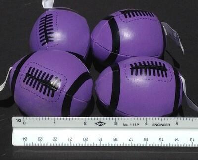 Soft, Mini Footballs (4 per order) Purple