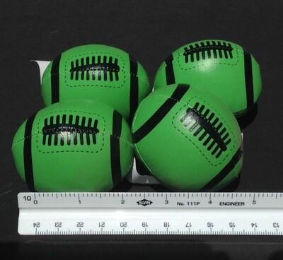 Soft, Mini Footballs (4 per order) Lime Green