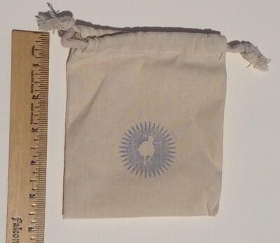 Small Linen Drawstring Bags (3 per order)