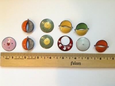 Vintage Enameled Copper Pieces (10 pieces)