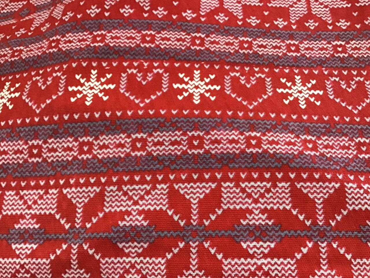 Fabric: Red & White Pattern