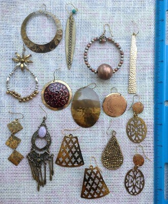 Earring Collection #3 Goldtone