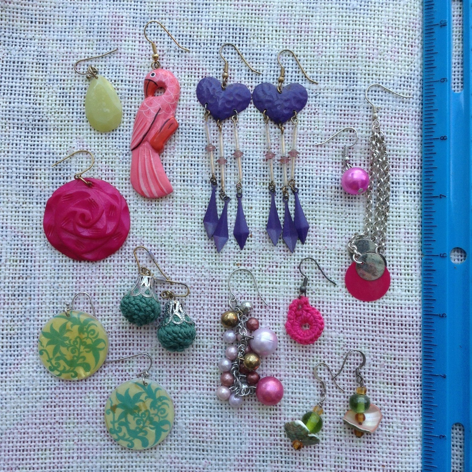 Earring Collection Color w/ Green Bag