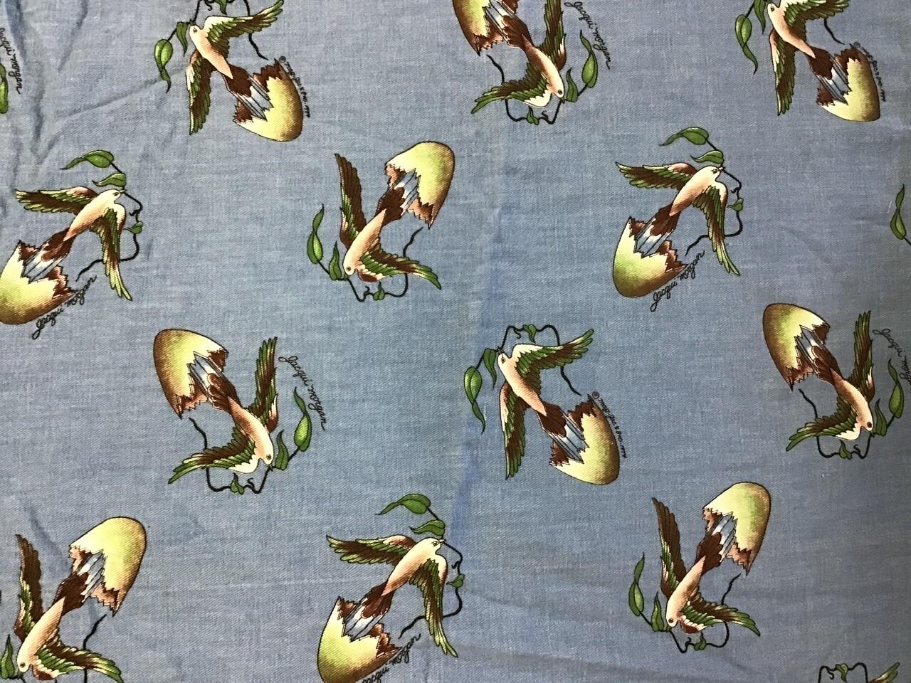 Fabric: Bird Lady