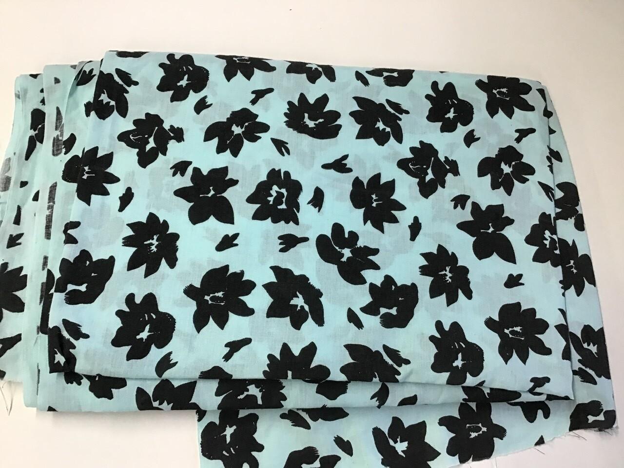 Fabric: Black Flowers / Cotton