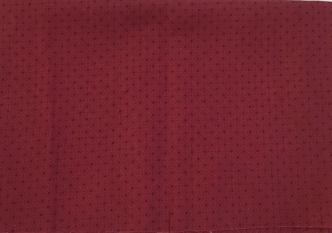 Fabric:  Burgundy / Cotton