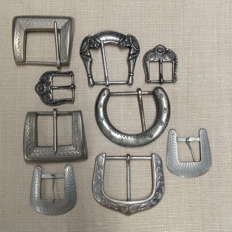 Metal Buckles: Lot #1 / Set of 9