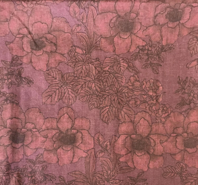 Fabric: Dark Burgundy Flower / Cotton
