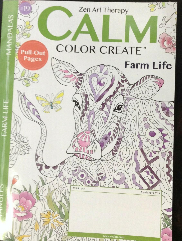 """Zen Art Therapy"" Coloring Book / Farm Animals"