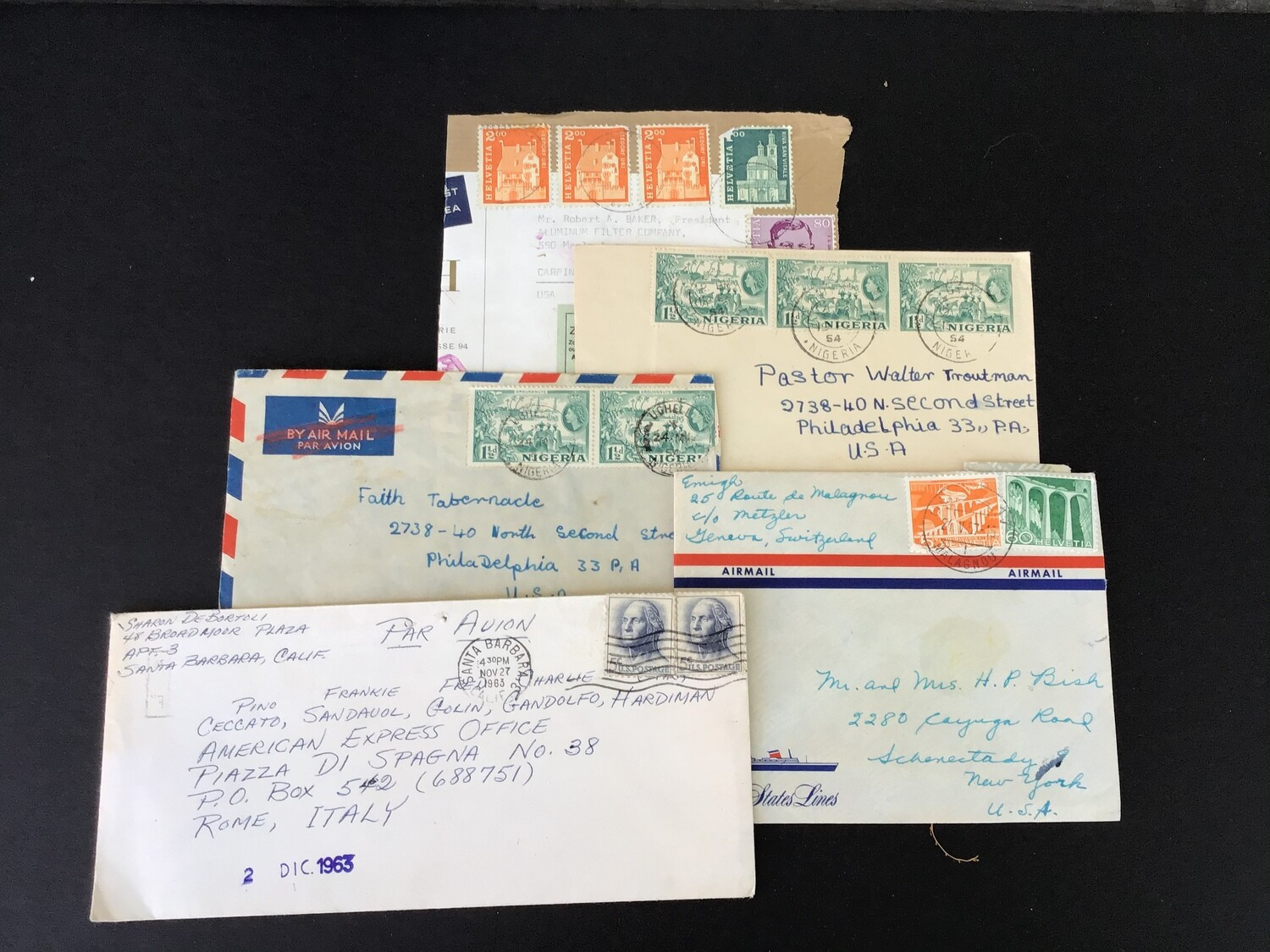 Five Old Envelopes - Lot #3