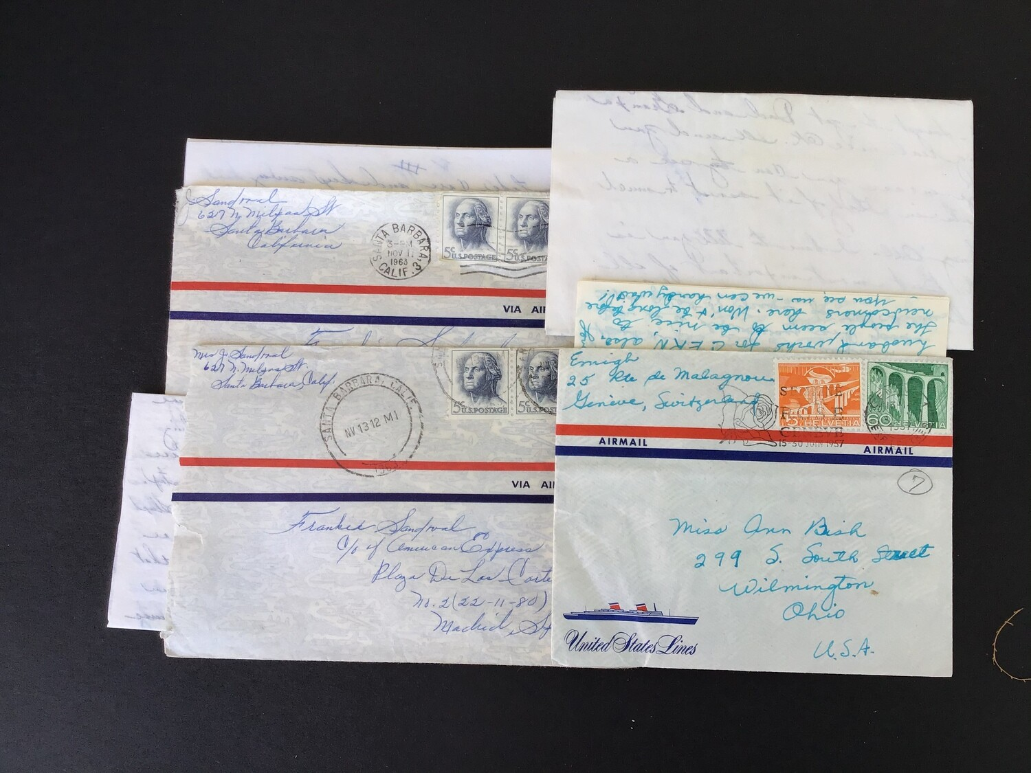 Four Old Letters With Three Envelopes - Lot #2