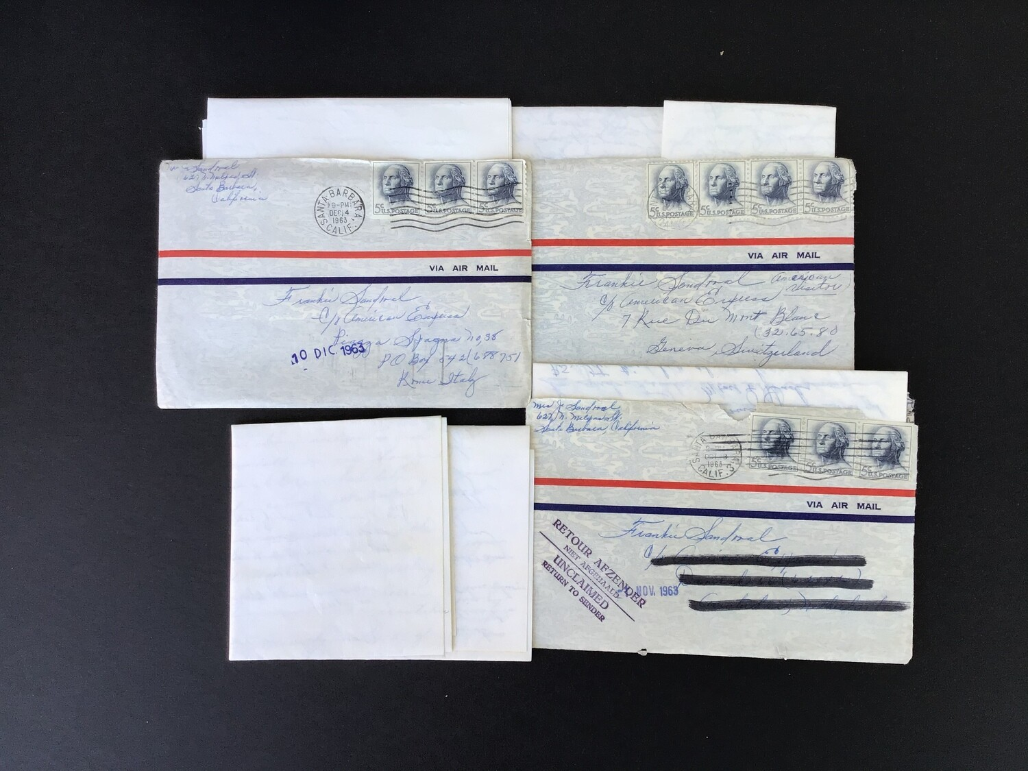 Four Old Letters With Three Envelopes - Lot #4