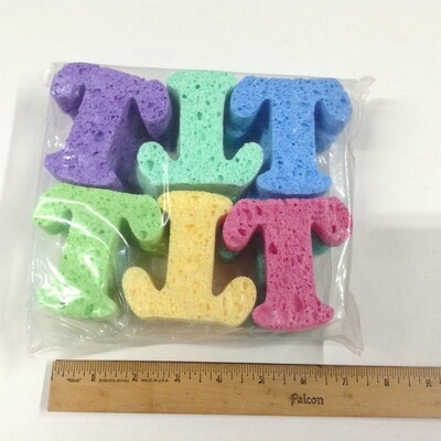 Sponge Letters / T's Only / Set of 12