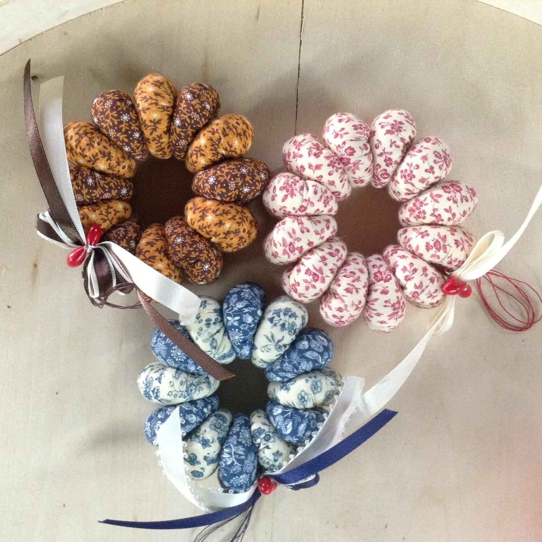 Fabric Wreath Ornaments