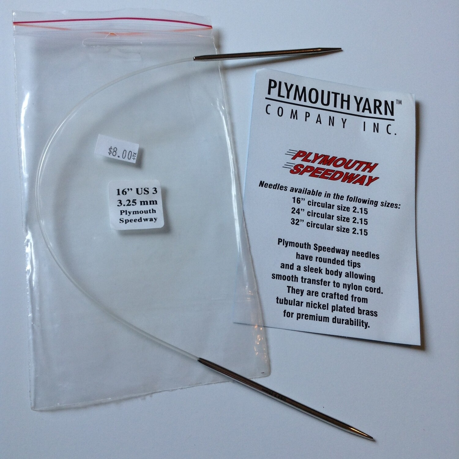 "Knitting Needles: Plymouth Yarn Co. (16"" 3.25 mm)"