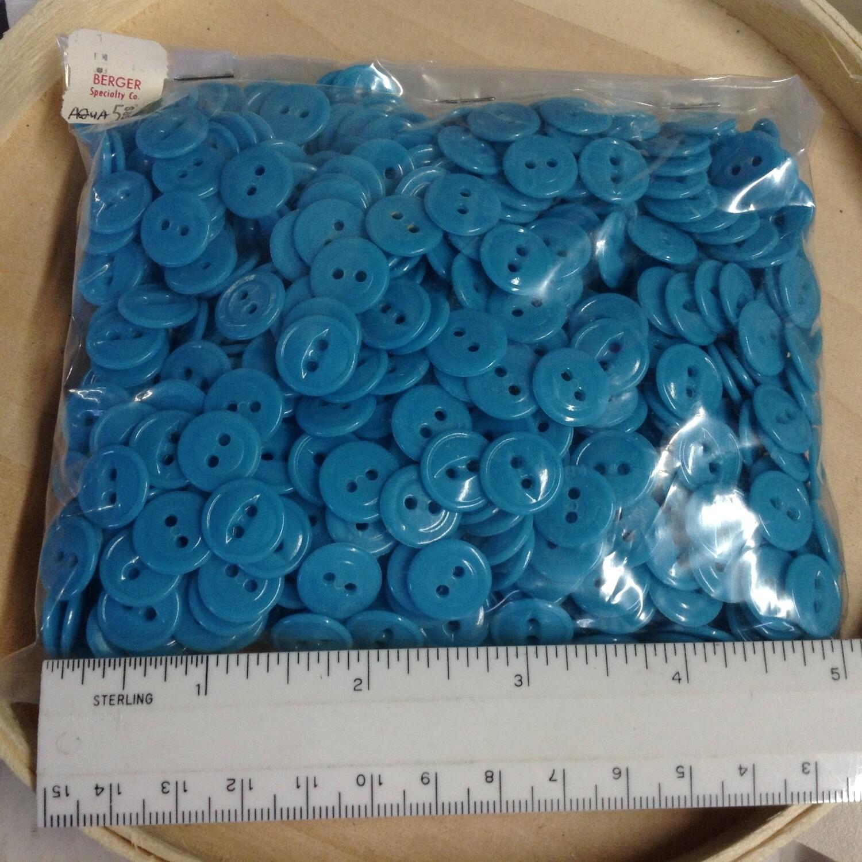 Buttons: Aqua Color, Plastic