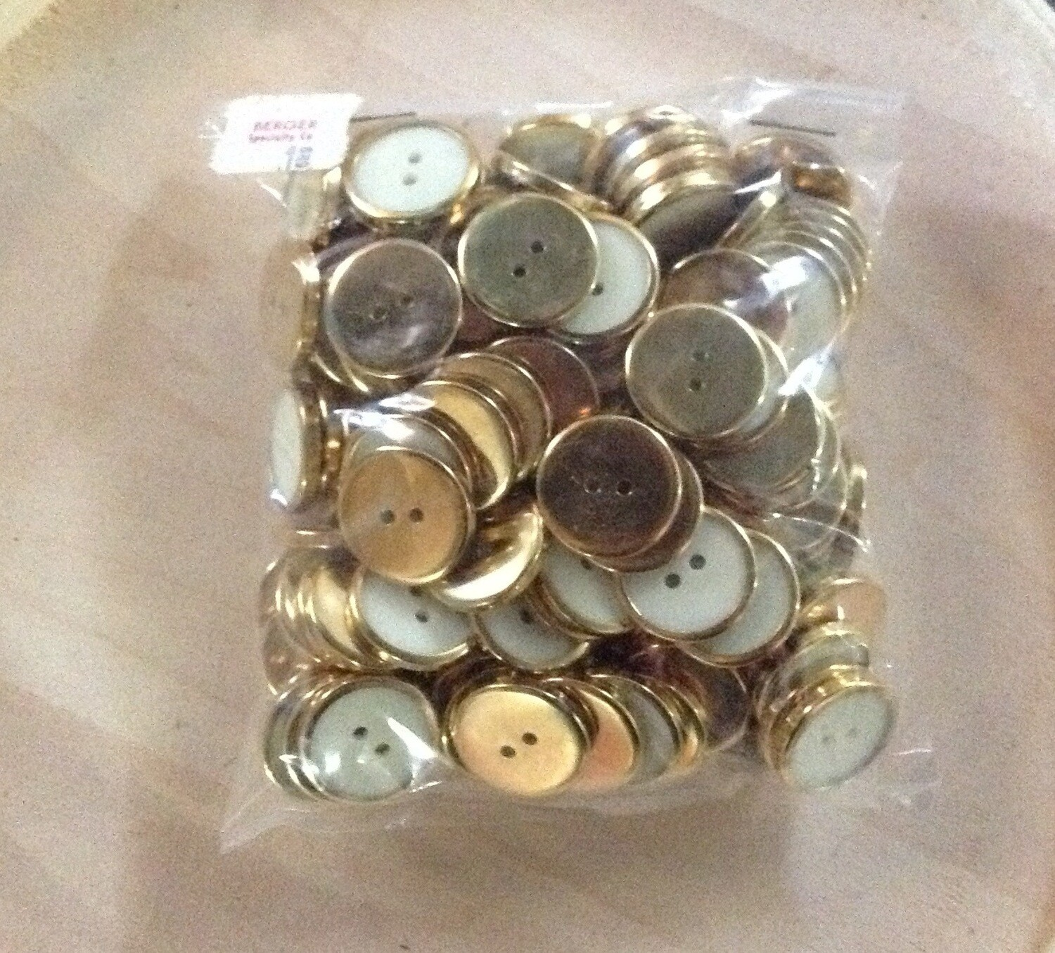 Buttons: White Plastic w/ Gold Metal Finish