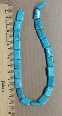 Beads: Genuine Turquoise Rectangle