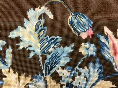 Embroidery Piece: Finished, Floral Design