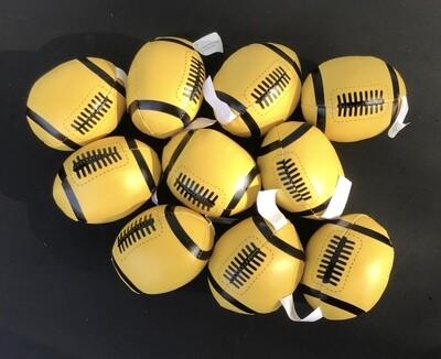 Mini-Footballs, Soft (Y) / 10 for $1.