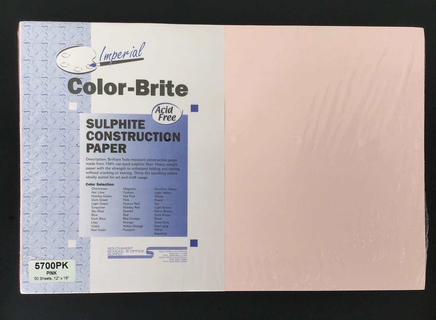 Construction Paper / Pink