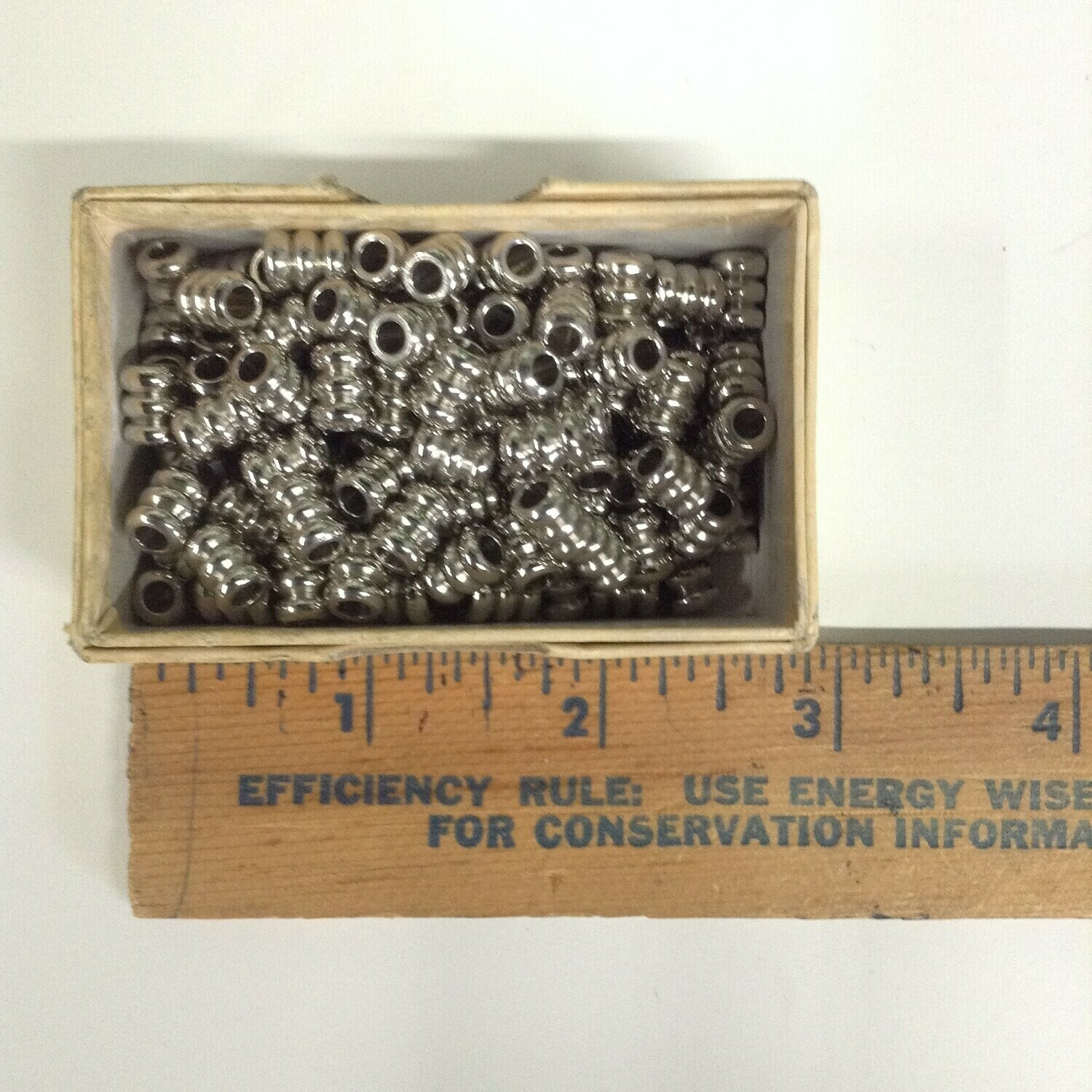 Beads: Silver Tone 3-Tiered / Metal